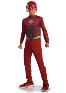 déguisement de flash pour garçon, costume de super héros enfant, costume de flash justice League garçon, déguisement justice League enfant, déguisement flash justice league garçon, Déguisement de Flash, Gamme Standard, Garçon