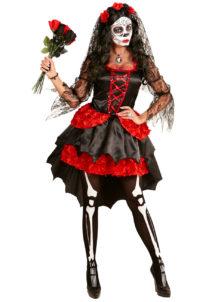 déguisement jour des morts, déguisement halloween femme, déguisement dia de los muertos, déguisement mort mexicaine, Déguisement Jour des Morts, avec Voile et Fleurs