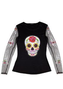 déguisement dia de los muertos, déguisement halloween femme, déguisement mexicain femme, accessoire déguisement halloween, Déguisement Jour des Morts, Top Mexicain