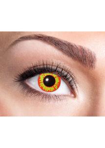 lentilles jaunes rouges, lentilles ork lentilles halloween, lentilles fantaisie, lentilles de couleur, Lentilles Jaunes et Rouges, Ork