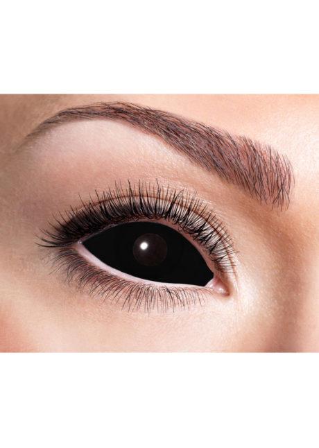 lentilles sclera, lentilles oeil complet, lentilles noires, lentilles halloween, lentilles fantaisie, lentilles déguisement, lentilles déguisement halloween, lentilles de couleur, lentilles fete, lentilles de contact déguisement, lentilles de sorcière, Lentilles Sclera 22 mm, Noires, Noir Total