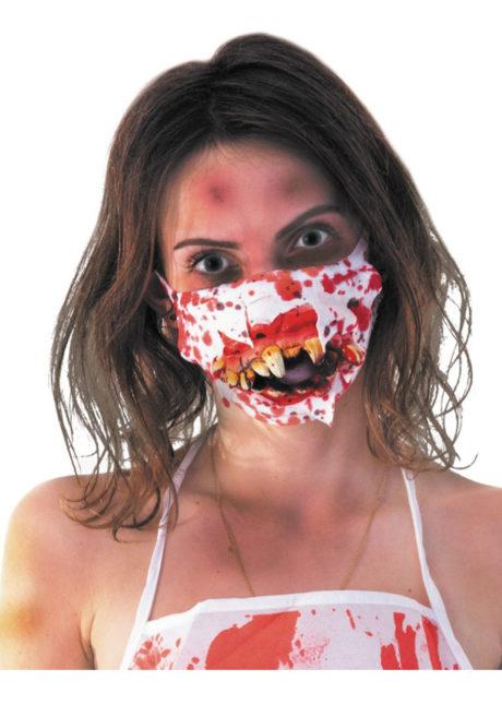 accessoire halloween, masque sanglant halloween, masque chirurgien halloween, Masque de Chirurgien Zombie