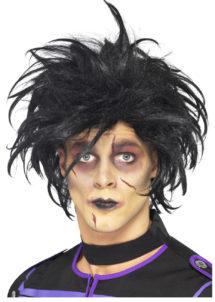 perruque noire homme, perruque rock homme, perruque halloween, perruque Edward aux mains d'argent, Perruque Edward Mains d'Argent, Noire