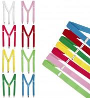 bretelles déguisement, bretelles homme, bretelles femmes, bretelles clowns, bretelles couleurs Bretelles Multicolores