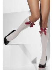 chaussettes d'écolière, chaussettes déguisement, accessoires déguisement, déguisement d'écolière, chaussettes blanches Chaussettes Blanches d'Ecolière