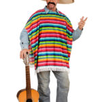 Déguisement Mexicain, Poncho + Sombrero