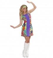 déguisement hippie femme, costume hippie femme, déguisement flower power femme, costume flower power femme, costume années 70 femme, déguisement années 70 femme, déguisement peace and love femme, costume femme hippie Déguisement Hippie Peace, 70s
