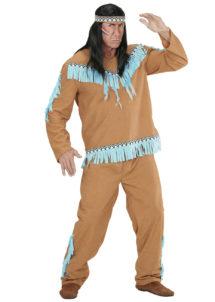 déguisement d'indien homme, costume d'indien adulte, costume d'indien homme, tunique d'indien déguisement, déguisement indien homme, déguisement indien adulte, déguisement homme, Déguisement Indien, Marron et Turquoise