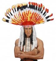 coiffe d'indien, plumes d'indien, accessoire déguisement indien, déguisement d'indien, coiffe d'indien à plumes, coiffure d'indien, coiffe de chef indien, coiffe déguisement Coiffe d'Indien Navajo