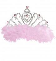 couronne de princesse Couronne de Princesse, Plumes Roses