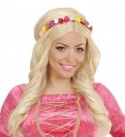 couronne de fleurs, accessoire fée déguisement, accessoire déguisement fée, accessoire hippie déguisement, accessoire déguisement hippie, accessoire couronne de fleurs Bandeau Couronne de Fleurs, Multicolores