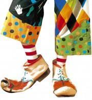 chaussures de clown, accessoire déguisement, accessoire clown déguisement, accessoires déguisement clown, fausses chaussures de clown Chaussures de Clown Vieillies