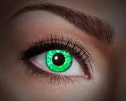 lentilles UV,lentilles fluos diamant vert, lentilles vertes, lentilles halloween, lentilles fantaisie, lentilles déguisement, lentilles déguisement halloween, lentilles de couleur, lentilles fete, lentilles de contact déguisement, lentilles fluos, lentilles halloween Lentilles Fluos, Vertes, Green Diamond