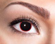 lentilles noires, lentilles halloween, lentilles fantaisie, lentilles déguisement, lentilles déguisement halloween, lentilles de couleur, lentilles fete, lentilles de contact déguisement, lentilles de sorcière Lentilles Noires, Hellraiser, Cerclées de Rouge