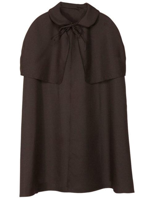 cape manteau à capeline, cape sherlock holmes, cape déguisement sherlock holmes, cape déguisement adulte, cape noire déguisement, Cape Début de Siècle, Sherlock, Noire