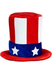 chapeaux, chapeaux haut de forme, chapeaux états unis, chapeaux paris, chapeau haut de forme, drapeaux américains, soirée états unis, chapeau oncle sam, Chapeau Haut de Forme Velours, USA