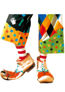 chaussures de clown, accessoire déguisement, accessoire clown déguisement, accessoires déguisement clown, fausses chaussures de clown, Chaussures de Clown Vieillies