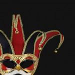 masque vénitien, loup vénitien, masque carnaval de venise, véritable masque vénitien, accessoire carnaval de venise, déguisement carnaval de venise, loup vénitien fait main, masque joker vénitien Vénitien, Joker Velours, Rouge et Noir