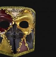 masque vénitien, loup vénitien, masque carnaval de venise, véritable masque vénitien, accessoire carnaval de venise, déguisement carnaval de venise, loup vénitien fait main Vénitien, Bauta Cera, Musica