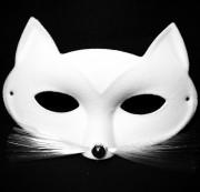 loup chat, masque de chat, masque de chat blanc, accessoire chat déguisement, Loup Chat Tabby, Blanc