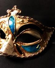 masque vénitien, loup vénitien, masque carnaval de venise, véritable masque vénitien, accessoire carnaval de venise, déguisement carnaval de venise, loup vénitien fait main Vénitien, Civette Kré à Pointe, Bleu