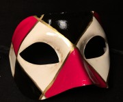 masque vénitien, loup vénitien, masque carnaval de venise, véritable masque vénitien, accessoire carnaval de venise, déguisement carnaval de venise, loup vénitien fait main Vénitien, Civette Losanges