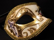 masque vénitien, loup vénitien, masque carnaval de venise, véritable masque vénitien, accessoire carnaval de venise, déguisement carnaval de venise, loup vénitien fait main Vénitien, Civette Comédia