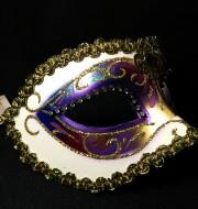 masque brillant, masque vénitien paillettes, masque vénitien, loup vénitien, masque carnaval de venise, véritable masque vénitien, accessoire carnaval de venise, déguisement carnaval de venise, loup vénitien fait main Vénitien, Arc en Ciel