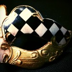 masque vénitien, loup vénitien, masque carnaval de venise, véritable masque vénitien, accessoire carnaval de venise, déguisement carnaval de venise, loup vénitien fait main Vénitien, Civette Mini, Damier Noir