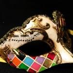masque vénitien, loup vénitien, masque carnaval de venise, véritable masque vénitien, accessoire carnaval de venise, déguisement carnaval de venise, loup vénitien fait main Vénitien, Civette Mini, Mosaïque Multicolore