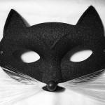 masque de chat, masque vénitien, masque de chat paillettes, loup de chat, accessoire chat déguisement Loup Chat Pantera Glitter, Noir