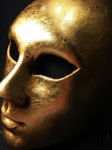 masque vénitien, masque vénitien visage or Vénitien Visage, Viso Oro