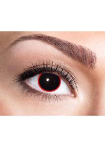lentilles noires, lentilles halloween, lentilles fantaisie, lentilles déguisement, lentilles déguisement halloween, lentilles de couleur, lentilles fete, lentilles de contact déguisement, lentilles de sorcière, Lentilles Noires, Hellraiser, Cerclées de Rouge