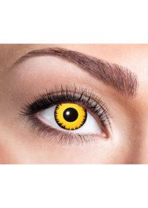 lentilles jaunes, lentilles halloween, lentilles fantaisie, lentilles déguisement, lentilles déguisement halloween, lentilles de couleur, lentilles fete, lentilles de contact déguisement, lentilles, Lentilles Jaunes, Oeil de Loup