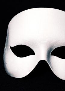 masque vénitien, masque blanc, loup vénitien blanc, loup carnaval de Venise, masque blanc visage, Loup Cocktail, Blanc