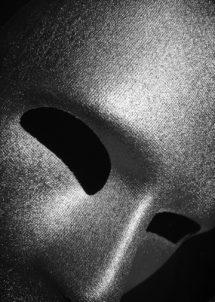 masque vénitien, masque visage, masque visage argent, masque neutre argent, masque visage complet, Masque Visage, Viso Argent