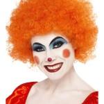 perruques paris, perruques femmes, perruques pas cherperruque de clown orange, perruque afro orange Perruque de Clown Orange