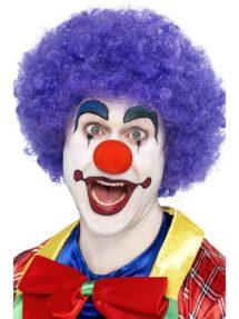 perruque pour homme, perruque pas chère, perruque de déguisement, perruque homme, perruque de clown, perruque frisée, perruque afro violette, perruque violette, Perruque de Clown Circus, Violette