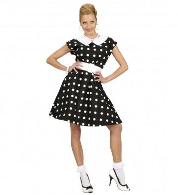 déguisement années 50, robe années 50 déguisement, costume années 50 femme, costume années 60 femme, déguisement années 60 femme, robe à pois déguisement femme, déguisement rock femme, déguisement sixties femme Déguisement Années 50, Noir