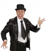 cravate large à paillettes, cravate clown, cravate à paillettes, cravate déguisement, accessoire déguisement, accessoire disco, cravate disco, cravate paillettes noire, cravate noire Cravate Paillettes Glitter, Noire