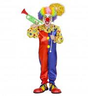 déguisement de clown enfant, déguisement clown garçon, costume clown enfant, déguisement enfant clown Déguisement de Clown, Combinaison Rouge et Bleue, Garçon