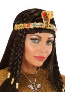 bandeau égyptien, bandeau cléopatre, accessoire déguisement, accessoire déguisement cléopatre, accessoire déguisement égyptienne, déguisement égypte, accessoire egyptien, Bandeau Egyptien, Serpent, Or et Pierres