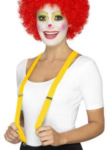 bretelles déguisement, bretelles homme, bretelles femmes, bretelles clowns, bretelles jaunes, Bretelles Jaunes, Elastiques, Réglables