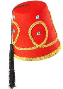 chapeau fez, chapeaux turcs, chapeaux paris, accessoire oriental, chapeaux fez paris, chapeau oriental, Chapeau Fez Luxe, Galon et Pierres
