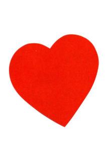 coeurs rouges en carton, coeur déco, déco saint valentin, Coeur Rouge à Suspendre, 38 cm