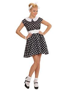 déguisement années 50, robe années 50 déguisement, costume années 50 femme, costume années 60 femme, déguisement années 60 femme, robe à pois déguisement femme, déguisement rock femme, déguisement sixties femme, Déguisement Années 50, Noir
