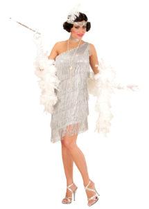 robe charleston déguisement, déguisement charleston, déguisement années 30, robe années 20, costume cabaret, déguisement cabaret femme, Déguisement Charleston Silver