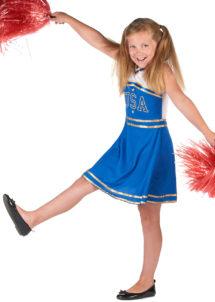 pompom girl enfant, déguisement fille, déguisements enfants, déguisement cheerleader fille, Déguisement de Pom Pom Girl Blue, Fille