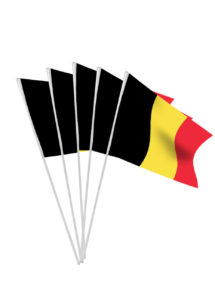 drapeau belgique, drapeaux à agiter, drapeaux de table, drapeaux des pays, drapeaux pays, boutique supporter, accessoires coupe du monde, décorations coupe du monde, Drapeau de la Belgique x 10, Drapeaux de Table
