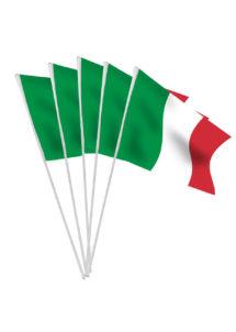 drapeau italie, drapeaux de l'italie, drapeaux de table, drapeaux des pays, drapeaux pays, boutique supporter, accessoires coupe du monde, décorations coupe du monde, Drapeau de l'Italie Table x 10, Drapeaux de Table